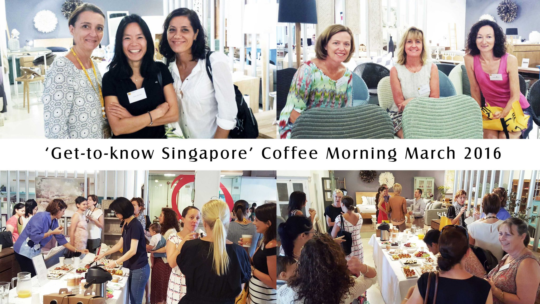 Asian Tigers clients new to Singapore enjoy snacks and refreshments at event