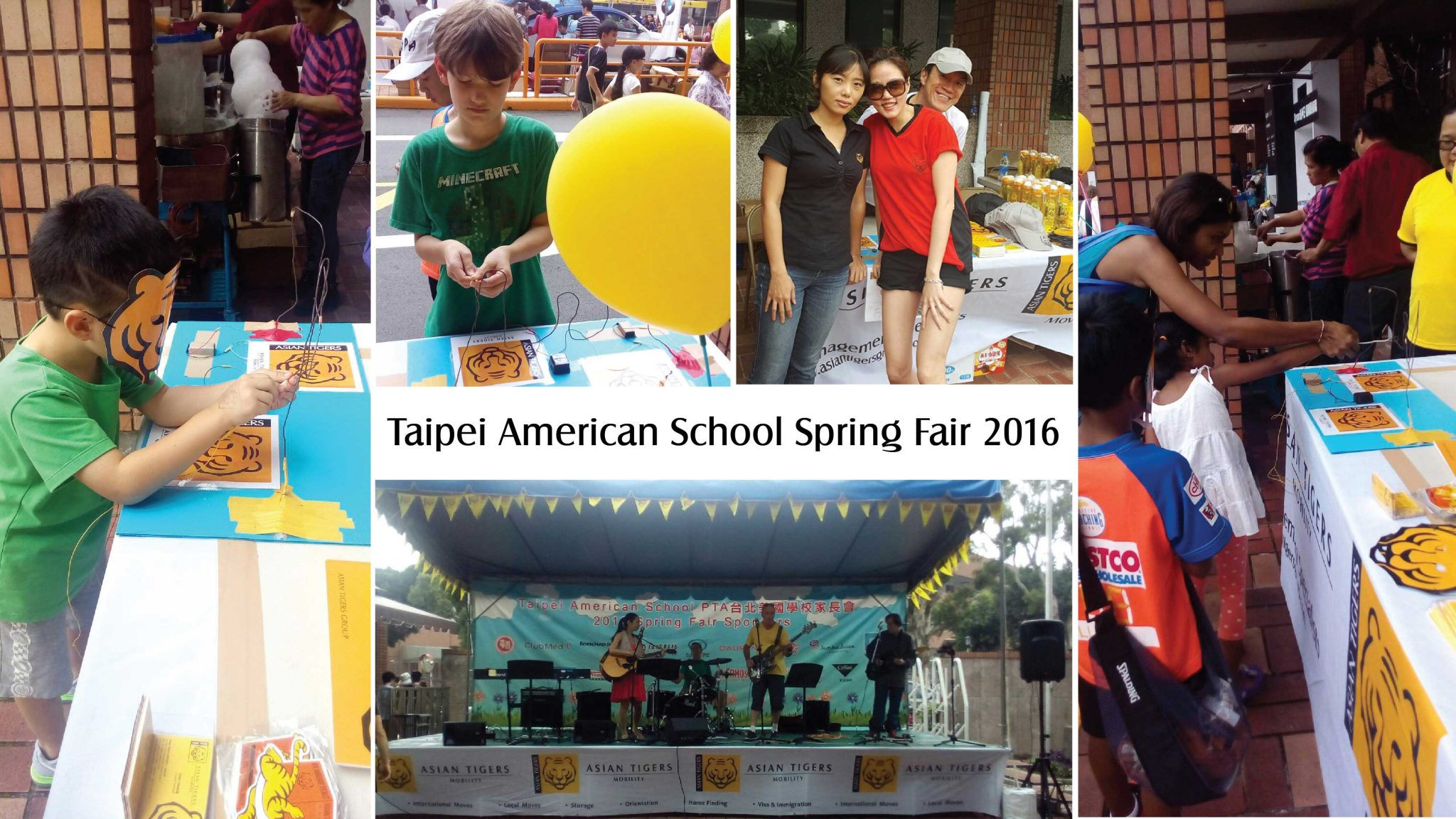 Children enjoy Taipei American School Spring Fair 2016 supported by Asian Tigers Mobility