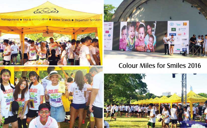 Asian Tigers booth in Color Miles for Smiles 2016