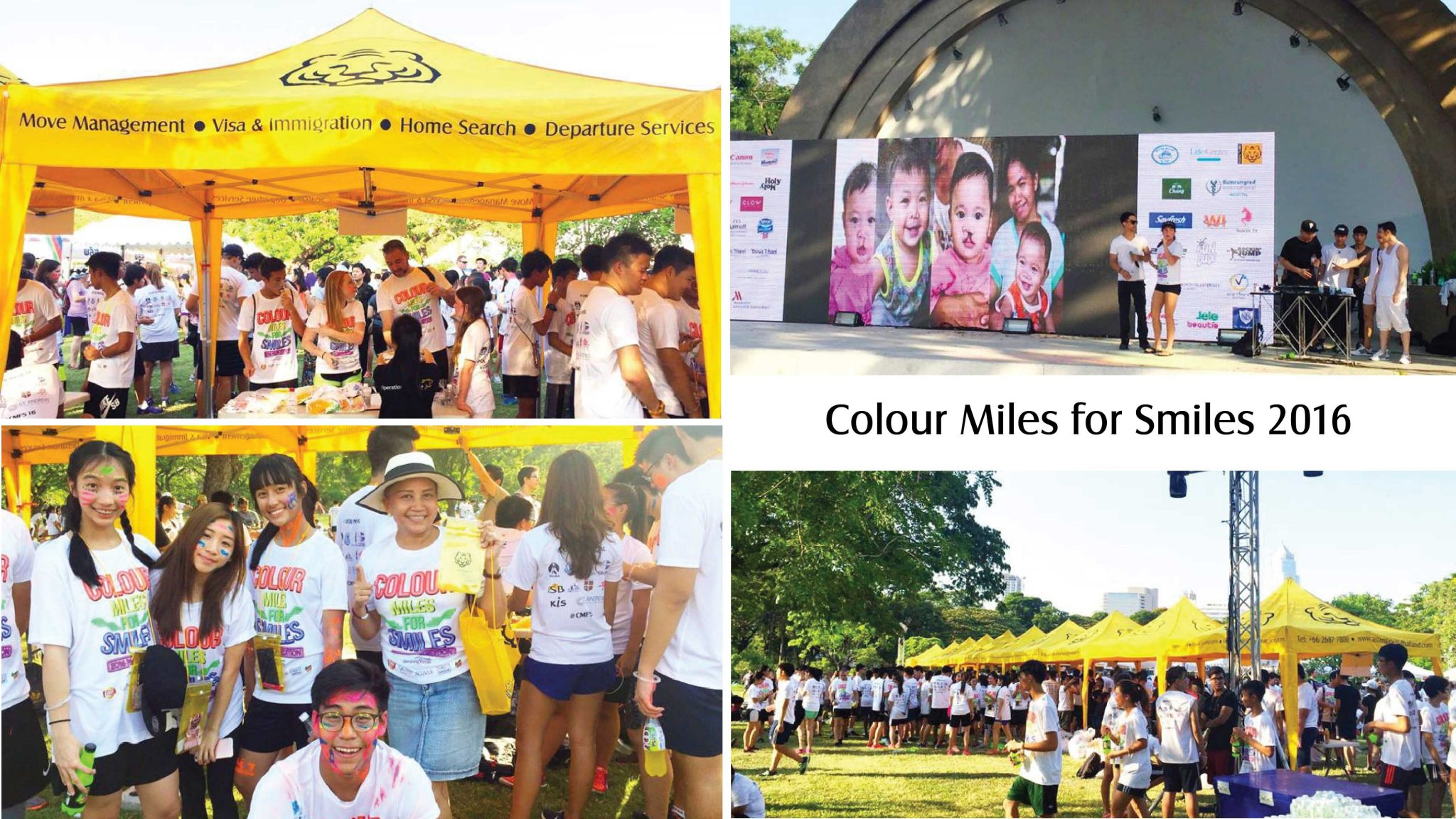 Asian Tigers Thailand supports Colour miles for smiles run 2016