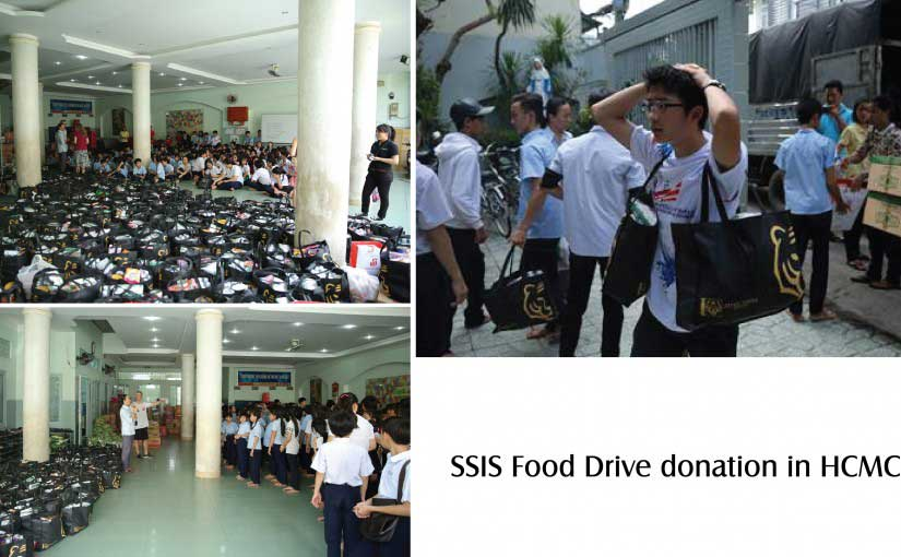SSIS food drive donation in HCMC