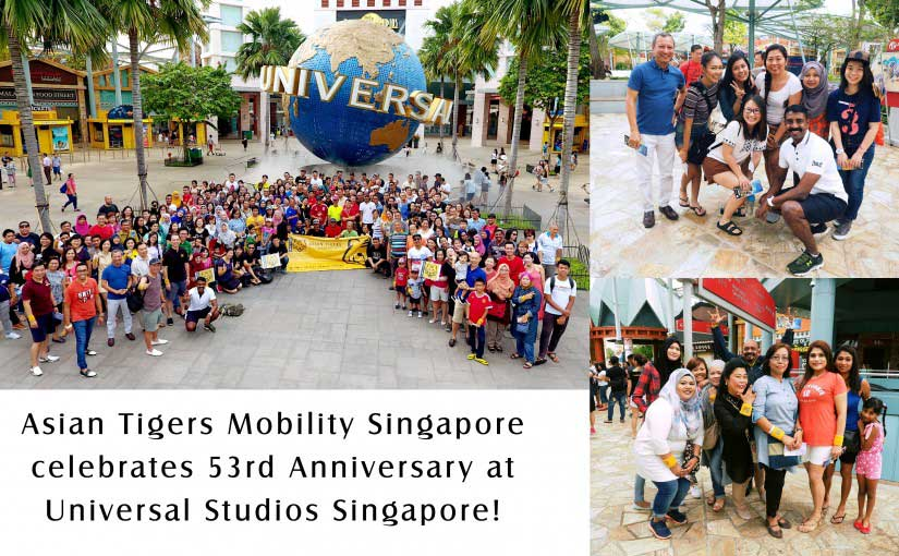 Asian Tigers Mobility Singapore 53rd anniversary Universal Studios trip July 2016