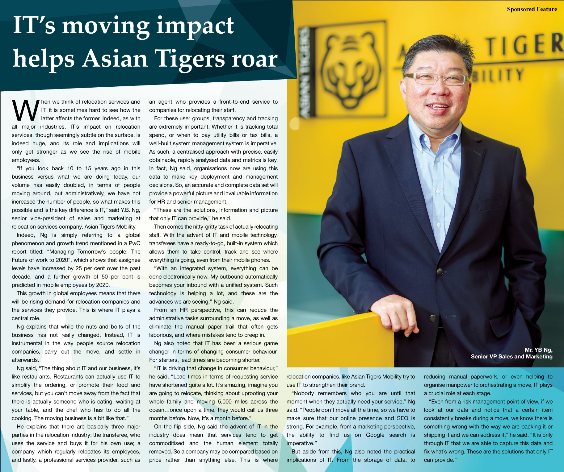 Asian Tigers Advertorial