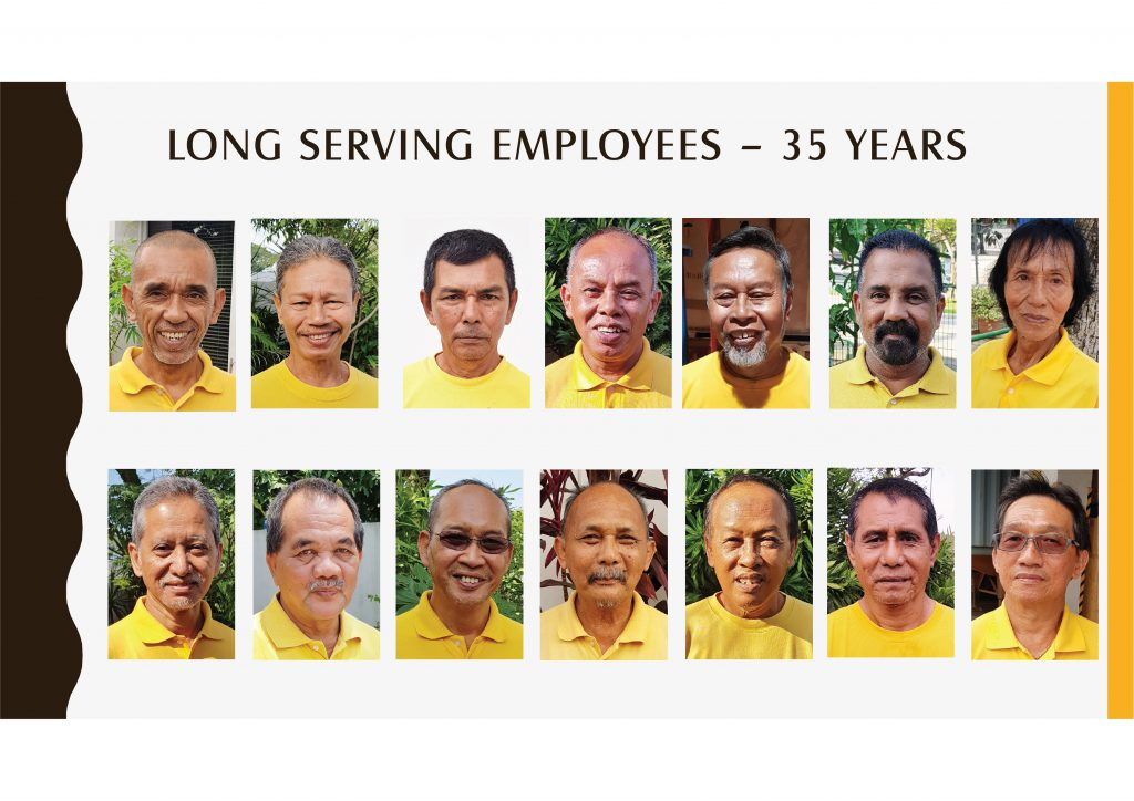Long Serving Employees -35